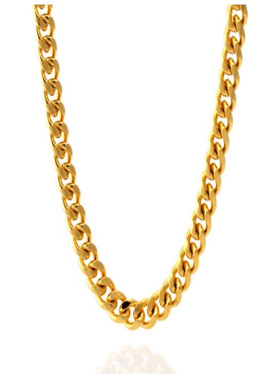 KING ICE 12MM 14K Gold Miami Cuban Curb Chain