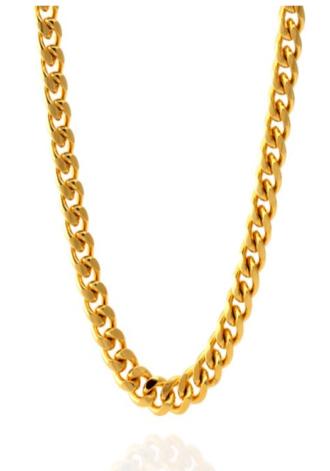 KING ICE 8MM 14K Gold Miami Cuban Curb Chain