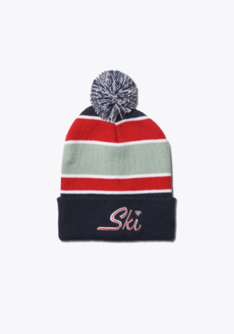 DIAMOND SUPPLY Ski Pom Beanie Navy