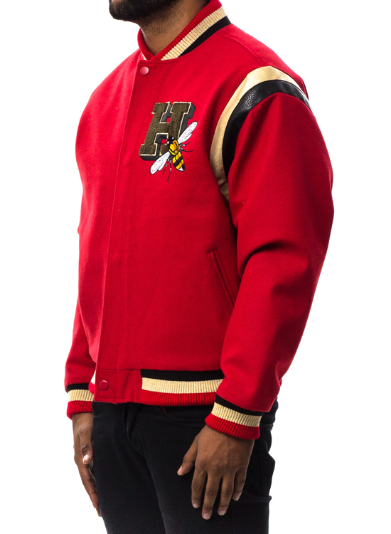 Hudson Beastmode Varsity Jacket In Red Hudson Outerwear Jacket